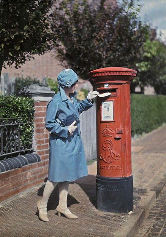 676 Англия на цветных фото 1928 года