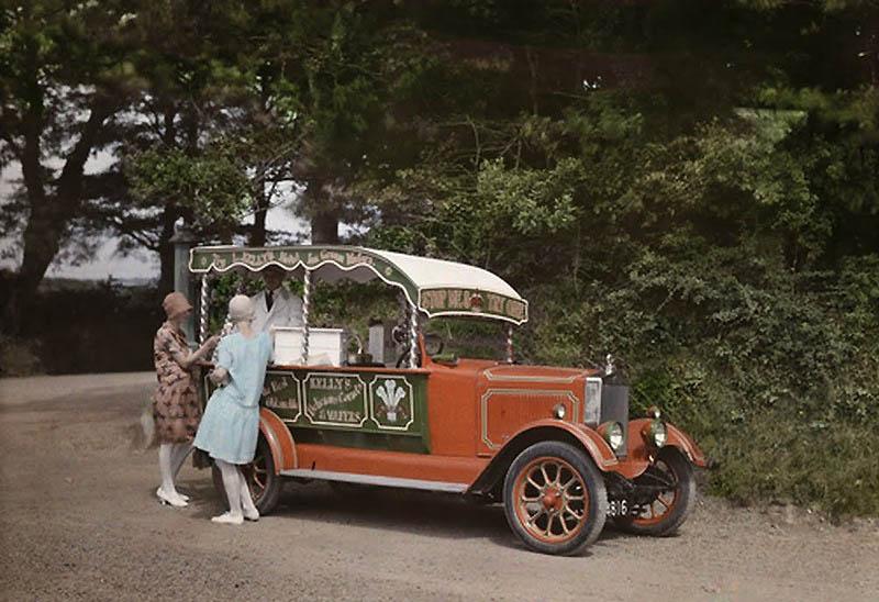866 Англия на цветных фото 1928 года