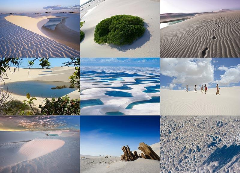 Простыни Мараньяна: Белые пески Lencois Maranhenses Бразилии