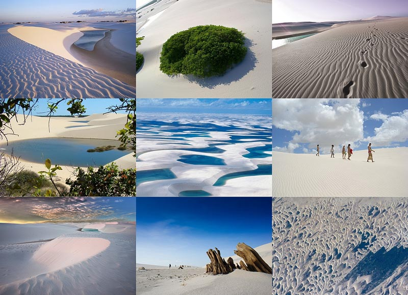 BIGPIC2 Простыни Мараньяна: Белые пески Lencois Maranhenses Бразилии