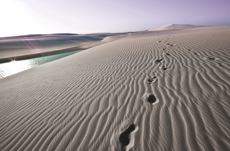 BX9eg000 Простыни Мараньяна: Белые пески Lencois Maranhenses Бразилии