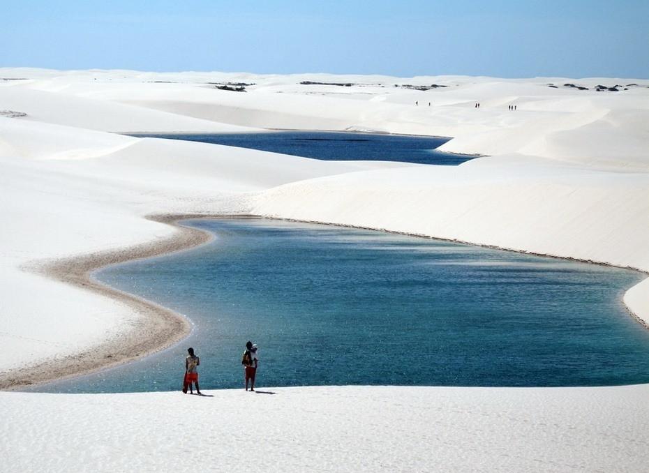 DTeMK000 Простыни Мараньяна: Белые пески Lencois Maranhenses Бразилии