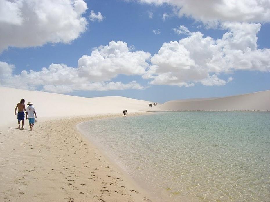 HwXpq000 Простыни Мараньяна: Белые пески Lencois Maranhenses Бразилии