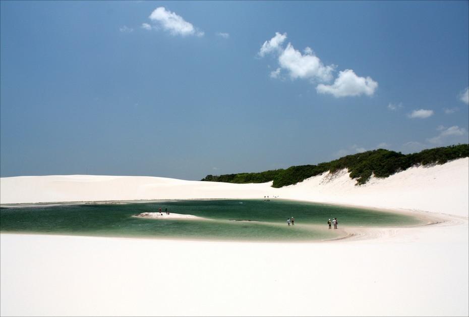 fshI7000 Простыни Мараньяна: Белые пески Lencois Maranhenses Бразилии