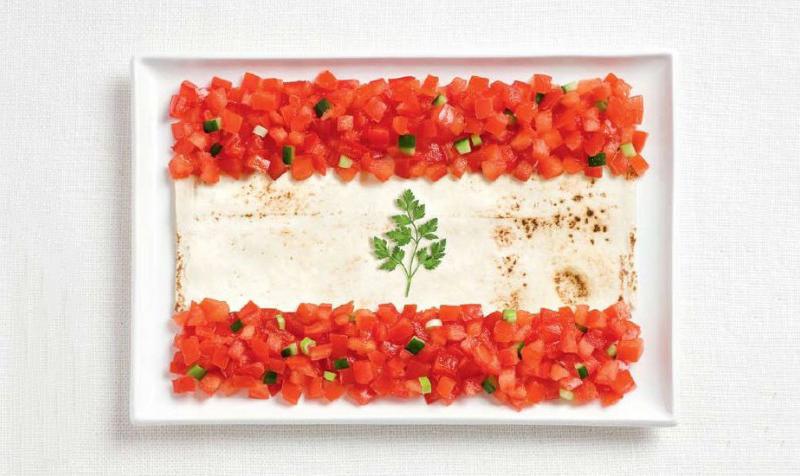 lebanon 700x476 Вкусные флаги разных стран мира