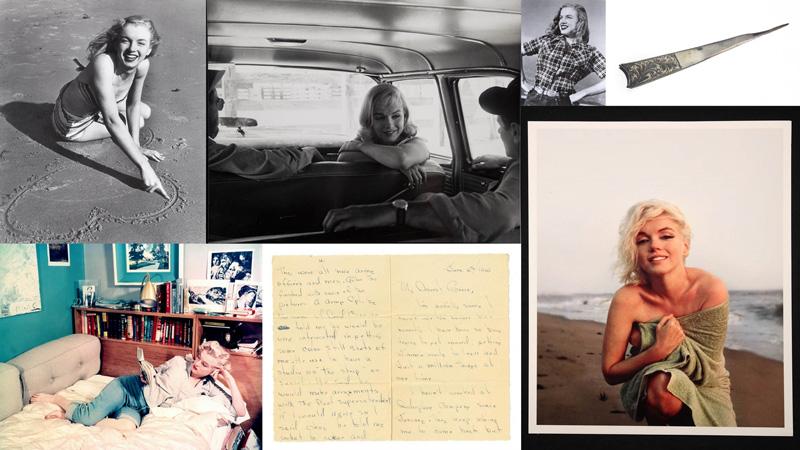 mm Вещи Мэрилин Монро, выставленные на аукцион