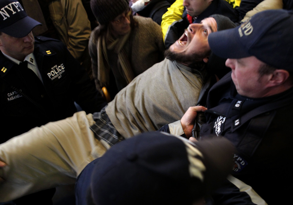 Аресты «захватчиков Уолл-стрит» по всемумиру
