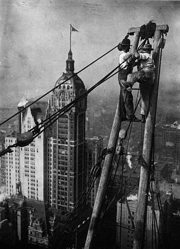 0068 Как строились небоскребы в Нью Йорке