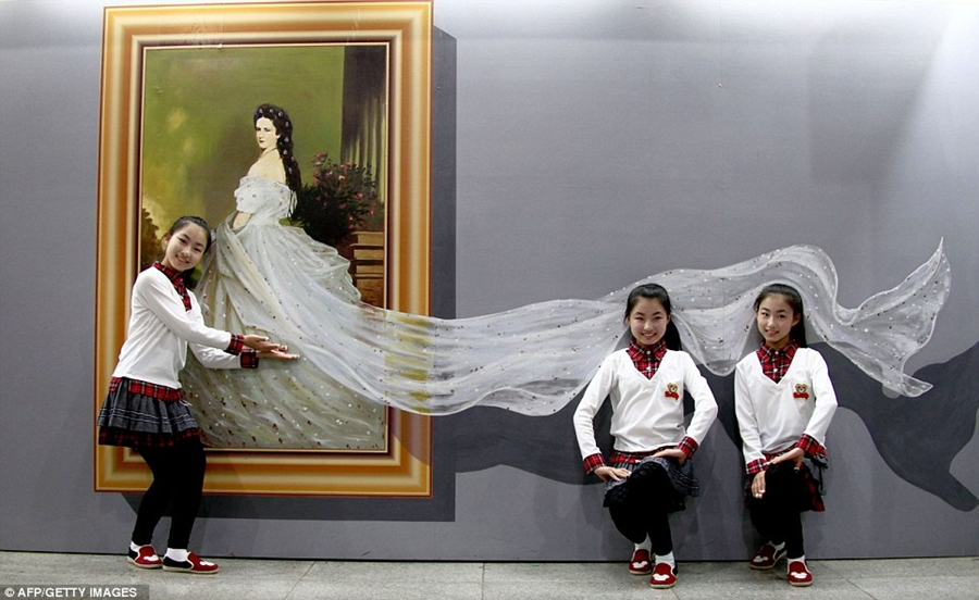 Выставка 3D картин вКитае