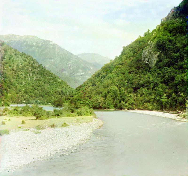 15127 Абхазия на цветных снимках Прокудина Горского 1904 и 1912 гг.
