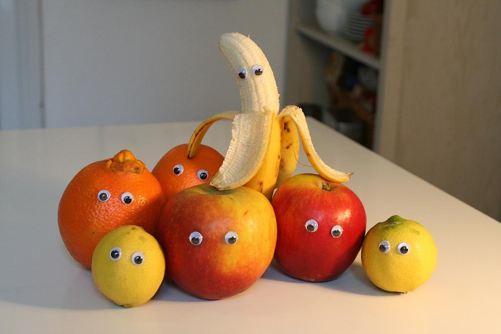 Смешные картинки фрукты и овощи