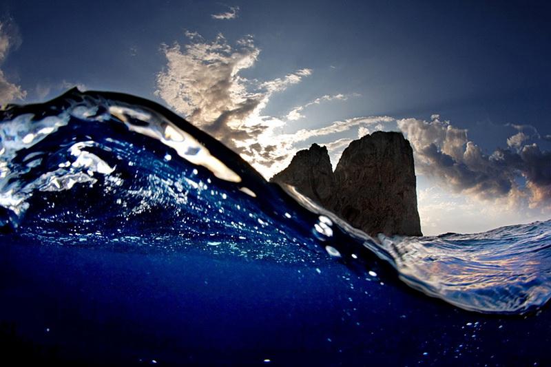 Фото границы воды и неба
