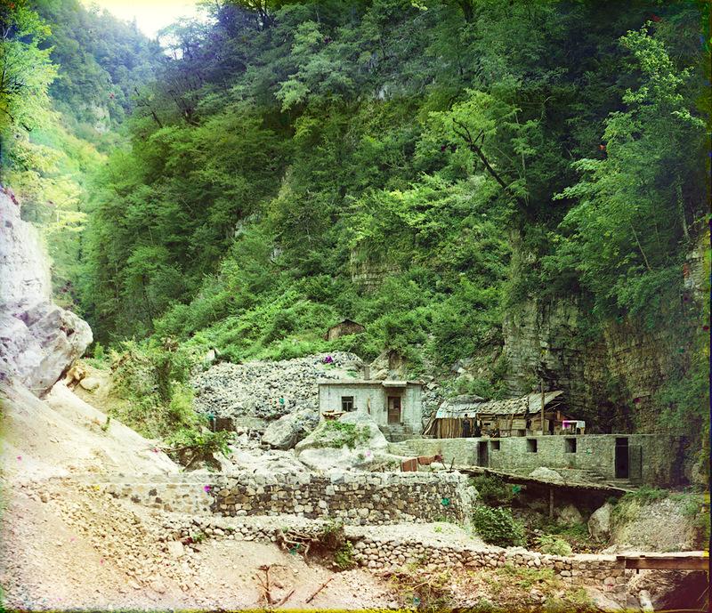 9136 Абхазия на цветных снимках Прокудина Горского 1904 и 1912 гг.