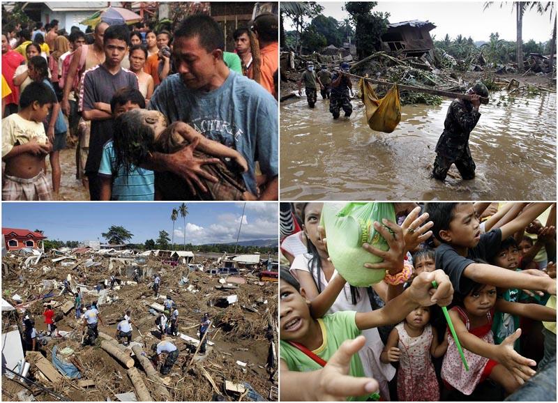 Филиппины на грани гуманитарной катастрофы после тайфуна Уоши