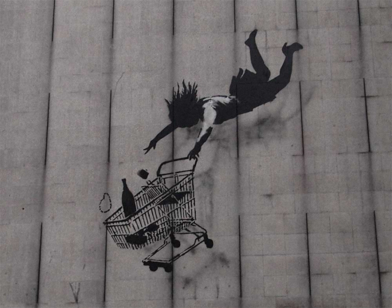 banksy shop til you drop 1 1000 Новые работы Banksy