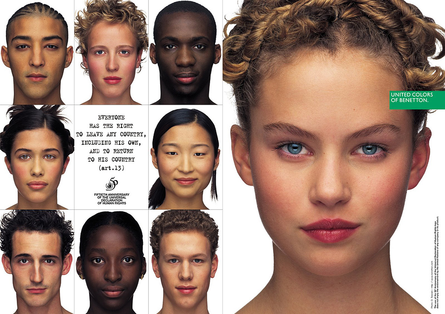 humanrights women Социальная реклама United Colors of Benetton, шокирующая мир