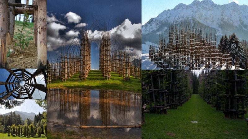 живой храм Храм из растущих деревьев в Италии