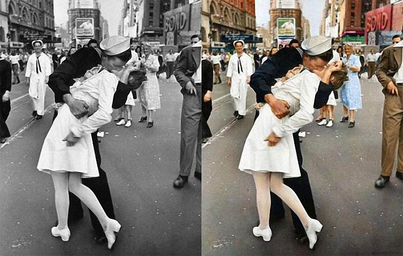 01911 Когда старые черно белые фотографии вдруг становятся цветными