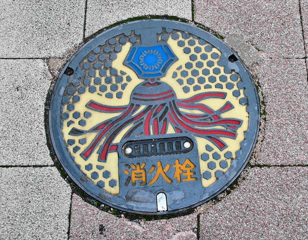 10108 Необычный уличный арт: Канализационные люки из Японии
