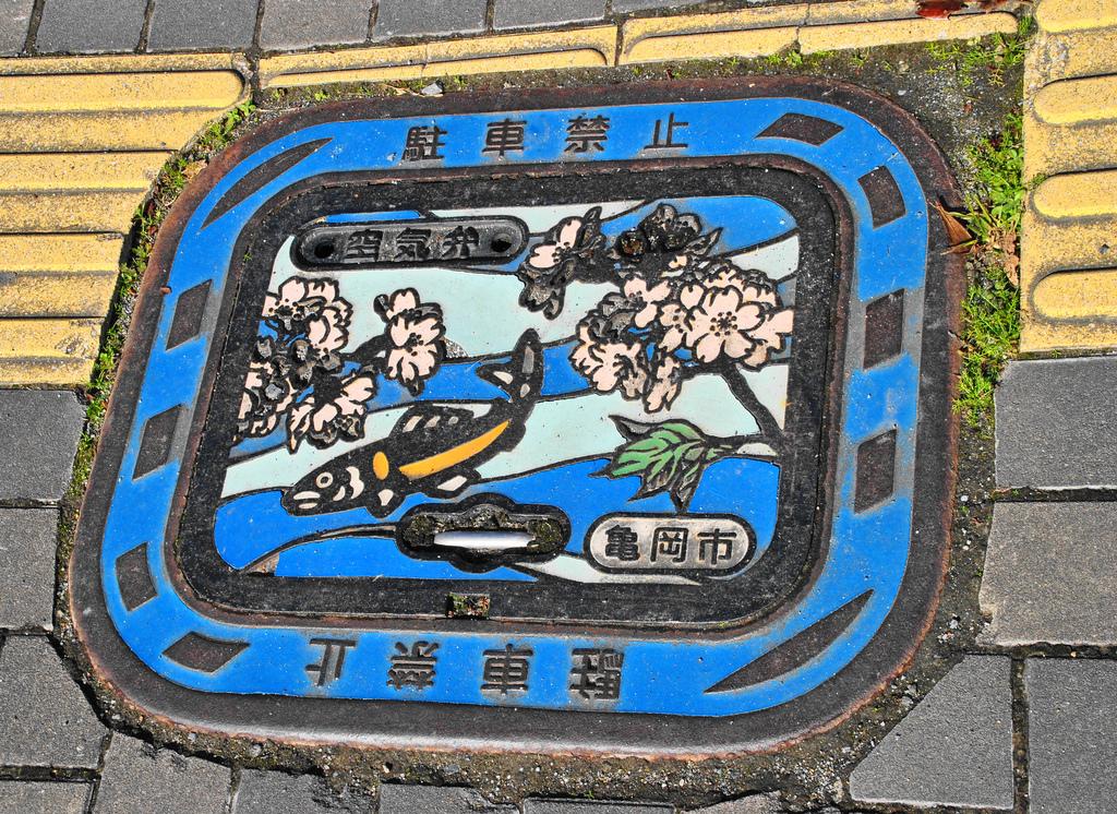 12107 Необычный уличный арт: Канализационные люки из Японии