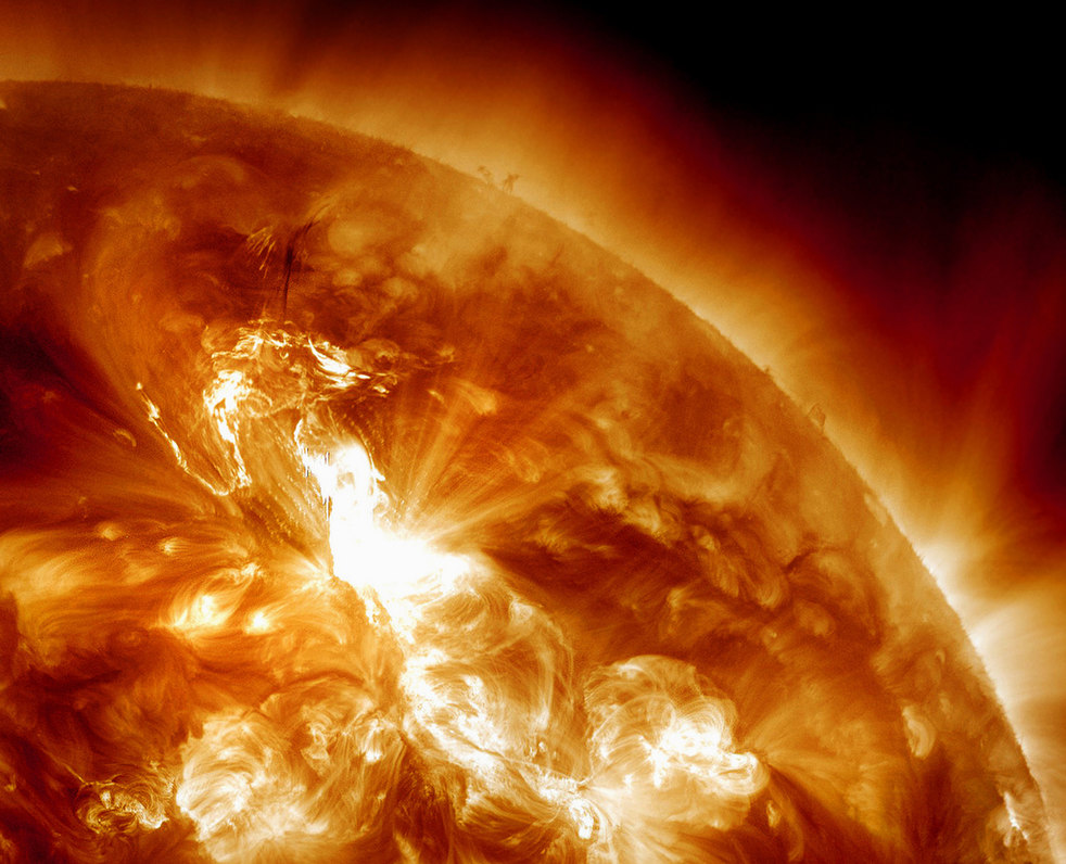 1304 Сильнейшая вспышка на солнце с 2005 года