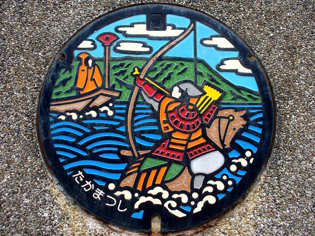 1308 Необычный уличный арт: Канализационные люки из Японии