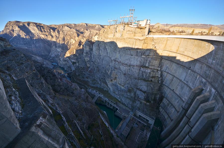 1332 Чиркейская ГЭС   самая высокая арочная плотина в России
