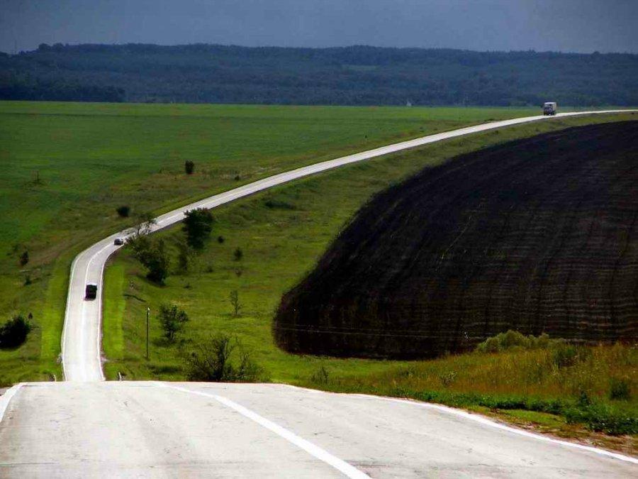 1573 Пейзажи с автомобильных дорог