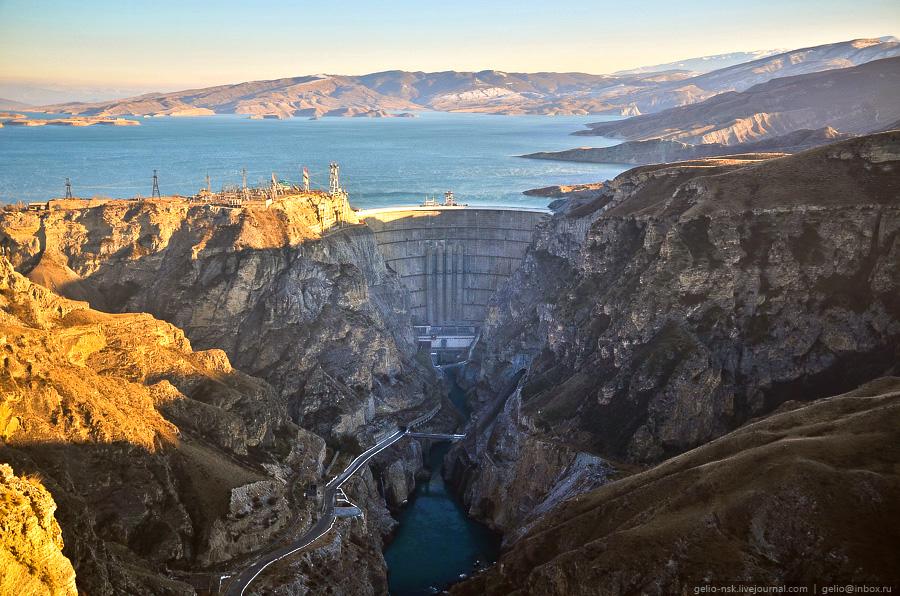 Чиркейская ГЭС — самая высокая арочная плотина в России