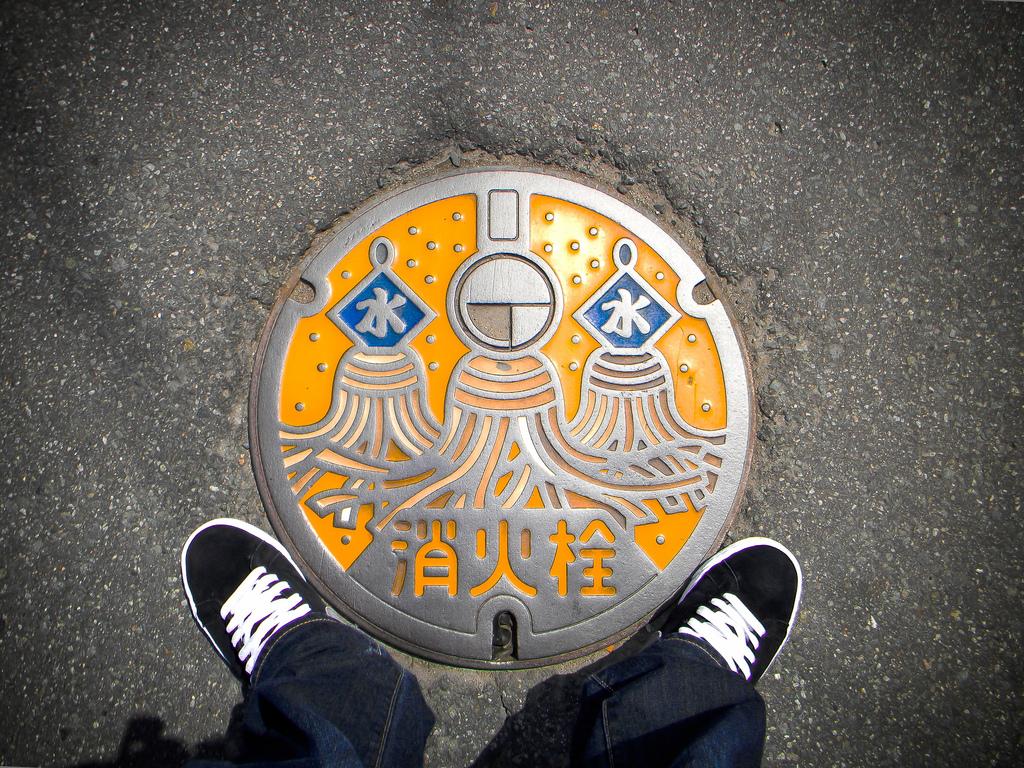 21108 Необычный уличный арт: Канализационные люки из Японии