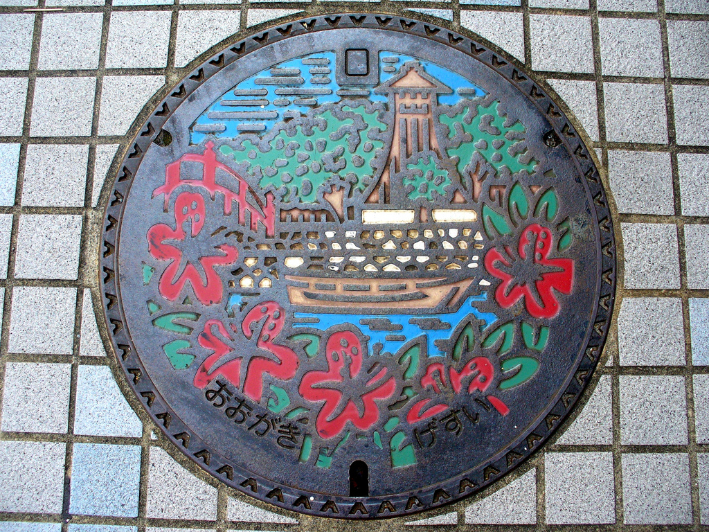 2257 Необычный уличный арт: Канализационные люки из Японии