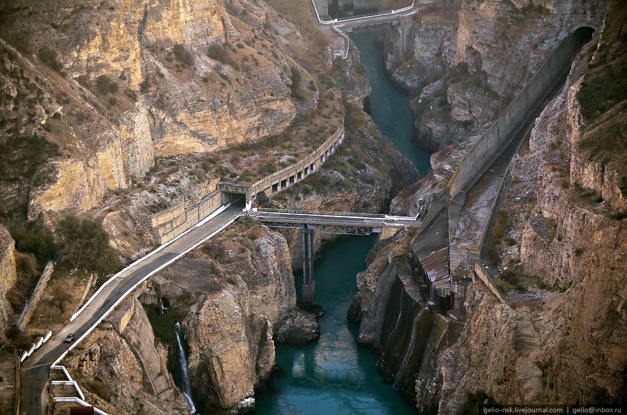 2419 Чиркейская ГЭС   самая высокая арочная плотина в России