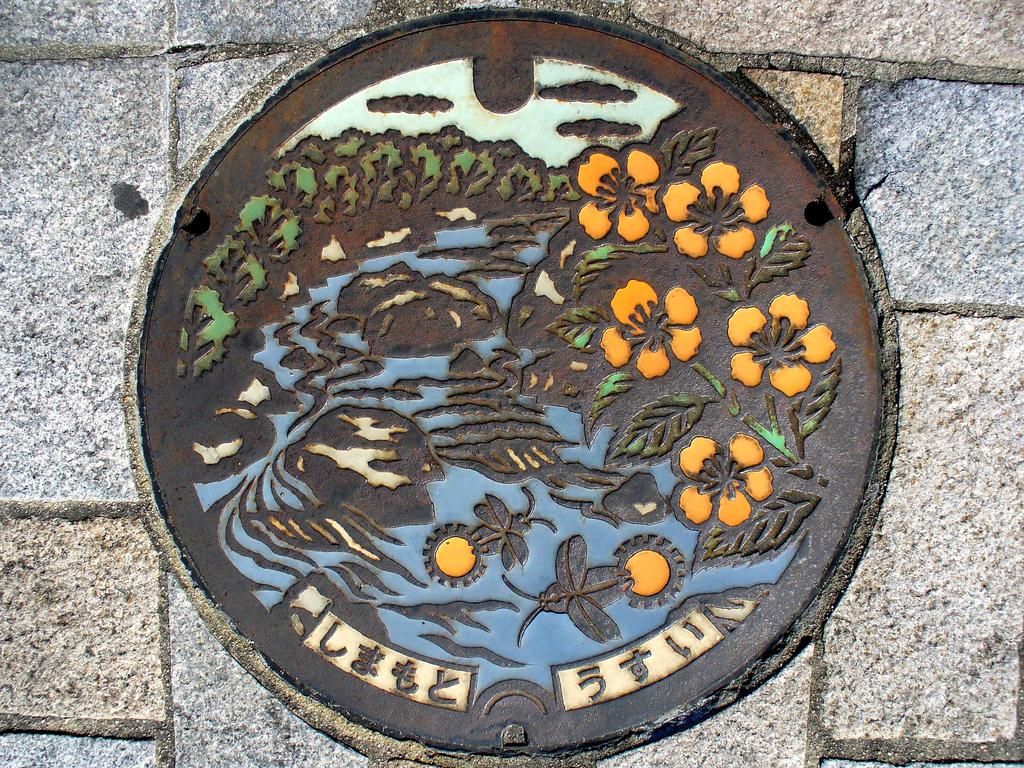 3024 Необычный уличный арт: Канализационные люки из Японии