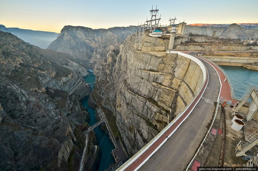 380 Чиркейская ГЭС   самая высокая арочная плотина в России