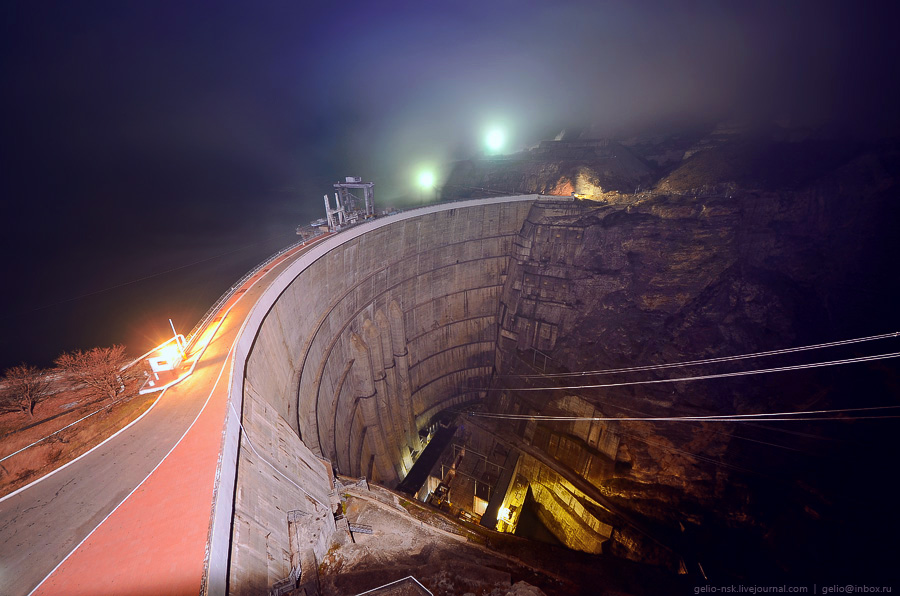 4116 Чиркейская ГЭС   самая высокая арочная плотина в России