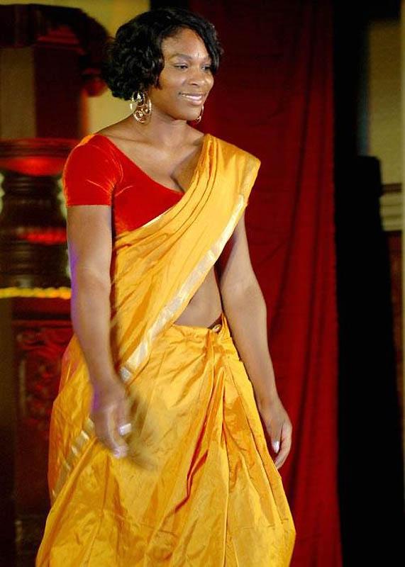 4129 Знаменитости в индийском сари