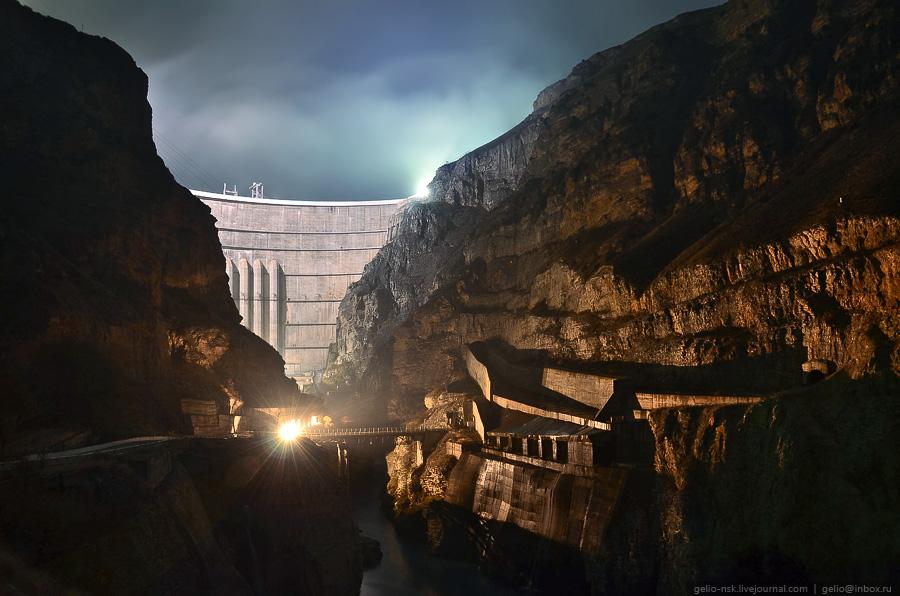 4313 Чиркейская ГЭС   самая высокая арочная плотина в России