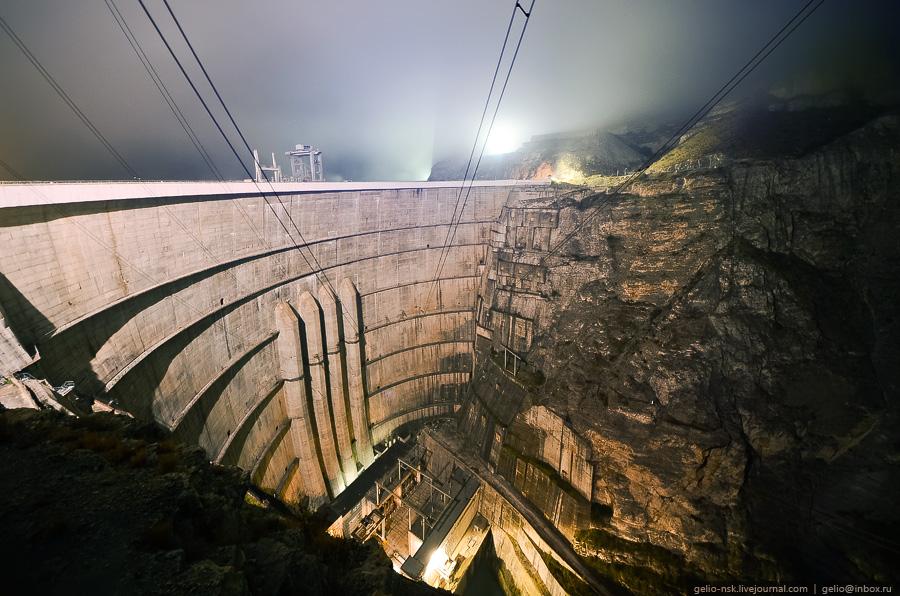 4510 Чиркейская ГЭС   самая высокая арочная плотина в России