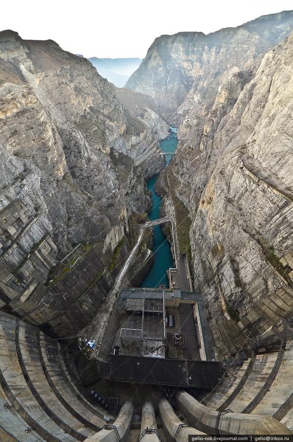 546 Чиркейская ГЭС   самая высокая арочная плотина в России
