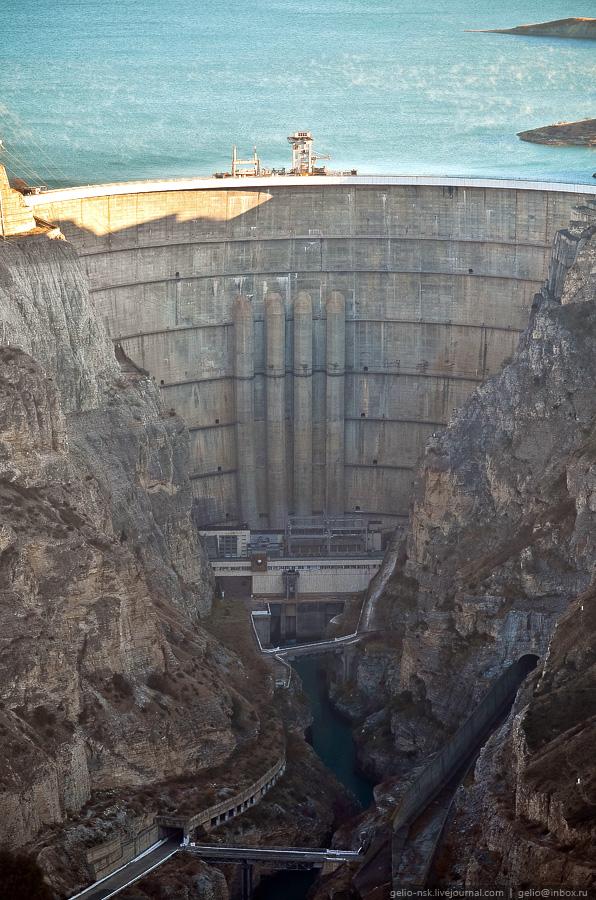 740 Чиркейская ГЭС   самая высокая арочная плотина в России