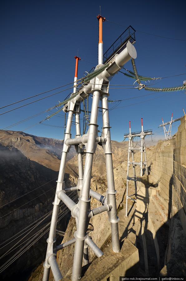 838 Чиркейская ГЭС   самая высокая арочная плотина в России