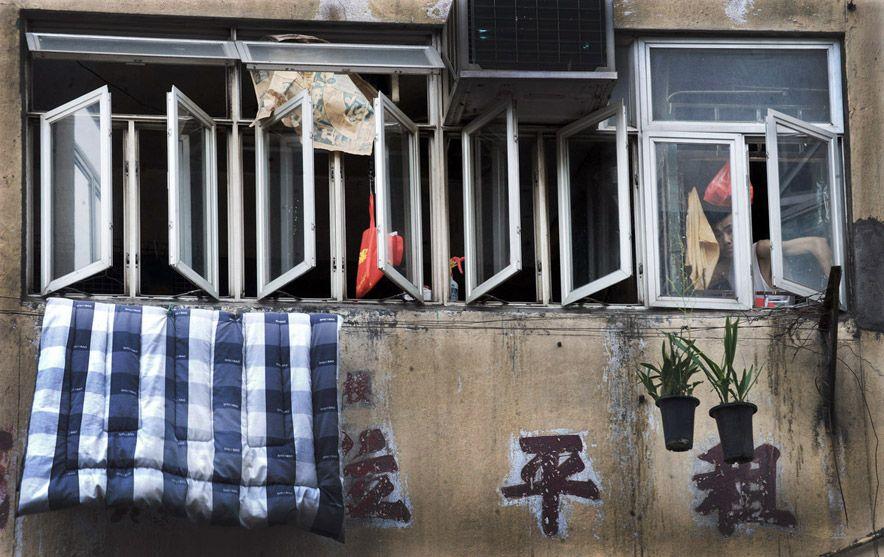 857 Жизнь в собачьих клетках в Гонконге