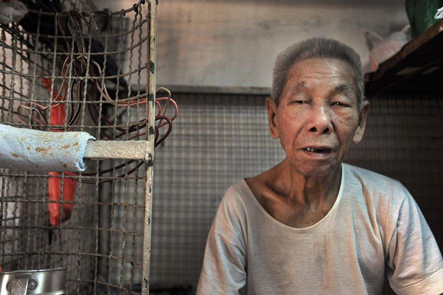 949 Жизнь в собачьих клетках в Гонконге
