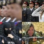 Женщины-военные из разных стран мира