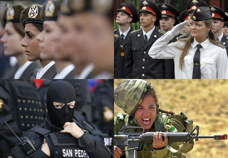 BIGPIC74 Женщины военные из разных стран мира