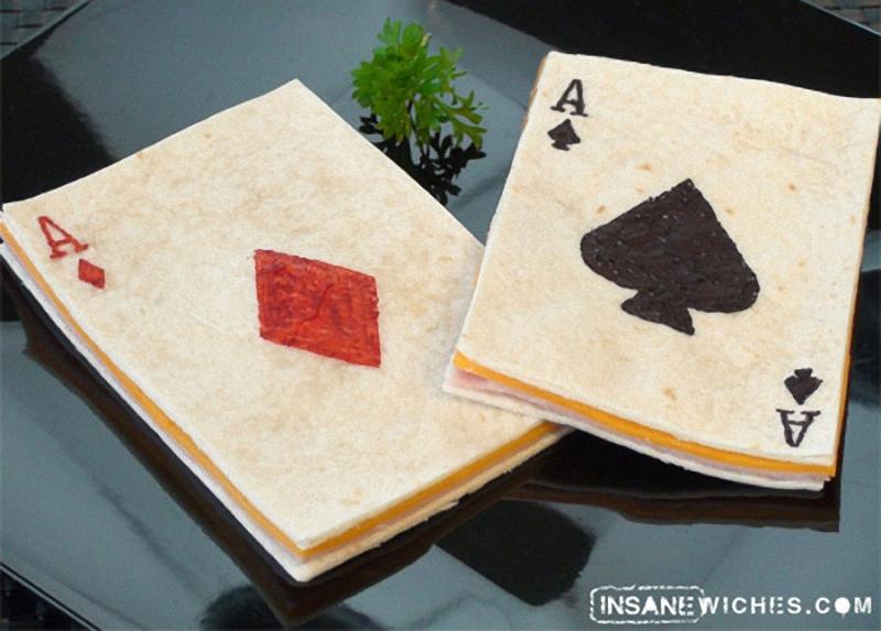 Pair of Aces Искусство бутерброда