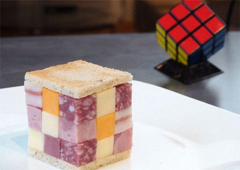 Rubik's Cube Искусство бутерброда