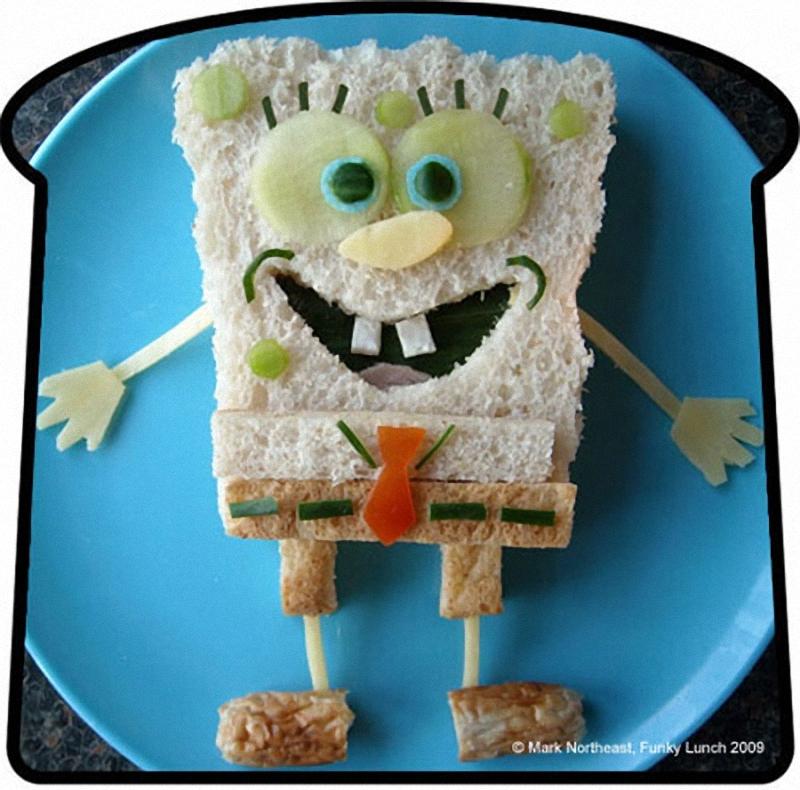 Spongebob Искусство бутерброда