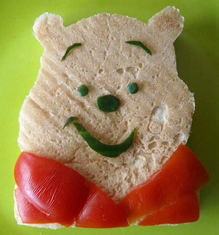 Winnie The Pooh Искусство бутерброда