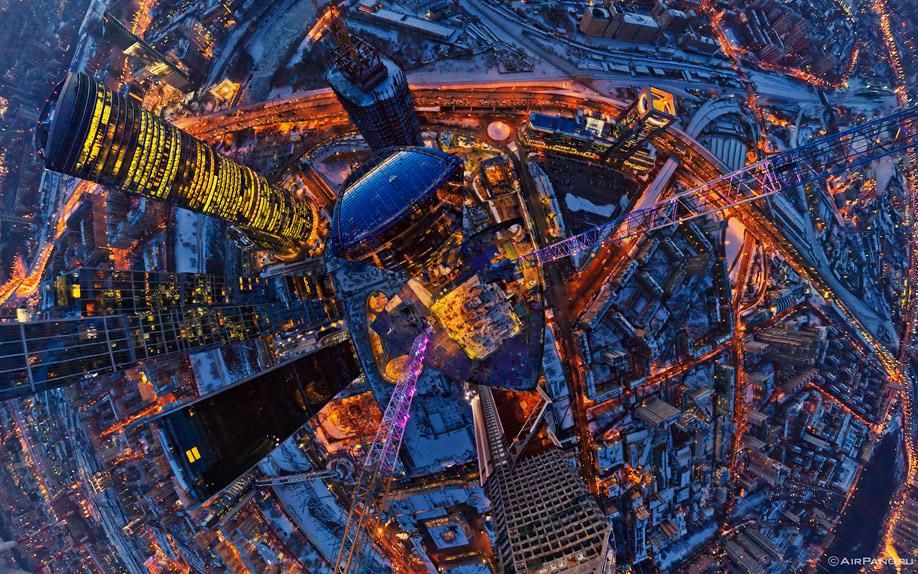 0010 Москва Сити с воздуха